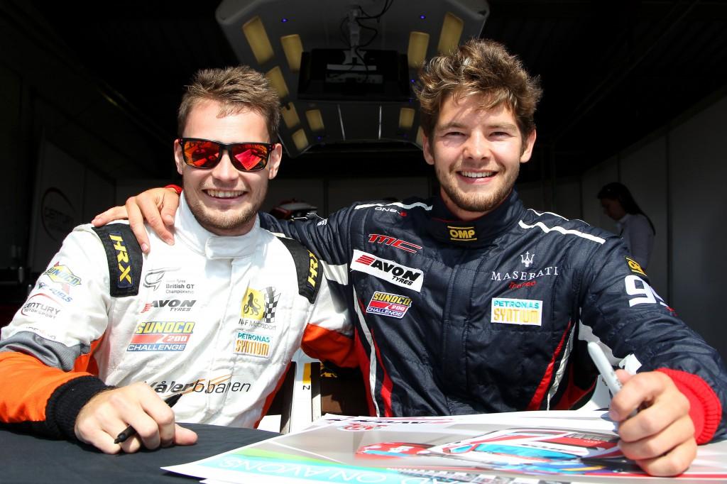 Aleksander Schjerpen along with new teammate Fredrik Blomstedt s