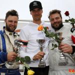 Pallen i G2-klassen Race 1 fr v: Alexander Holmberg, Otto Gullberg och Sebastian Arenram.