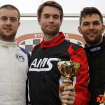Pallen G40-klassen Race 2 fr v: Niclas Harbig, Andreas Andersson och Robin Lassander.